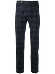 Entre Amis Checked Print Straight Leg Trousers 60