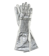 Calvin Klein 205W39nyc Metallic Leather Gloves Silver