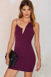 Nasty Gal Nisha Mini Dress Plum