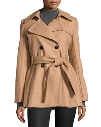 Via Spiga Scarpa Double Breasted Wool Coat Deep Camel