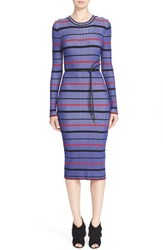 Women's St. John Collection Multicolor Stripe Rib Knit Sweater Dress