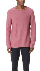 Scotch And Soda Garment Dyed Crew Neck Pullover Rock Rose