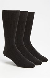 Men's Calvin Klein Wide Rib Socks Grey 3 Pack Graphite