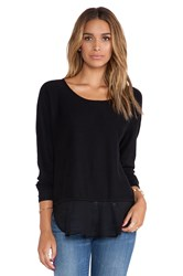 Central Park West Rye Asymmetric Hem Sweater Black