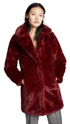 Mkt Studio Marili Faux Fur Coat Cherry