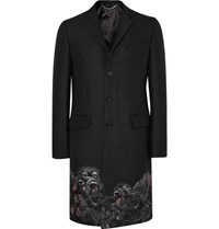 Givenchy Monkey Brothers Slim Fit Embroidered Woven Coat Black