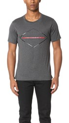 Rag And Bone Diamond Print Tee Charcoal