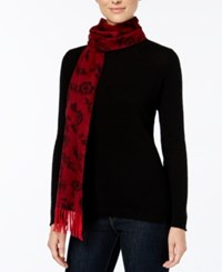 Charter Club Ditsy Floral Woven Cashmere Scarf Only At Macy's Tomato