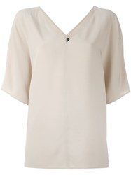 Joseph Half Sleeve Blouse Nude And Neutrals