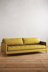 Anthropologie Linen Angelina Sofa Yellow