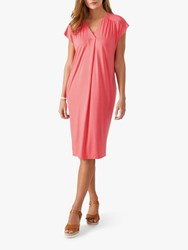Pure Collection Jersey Relaxed Dress Rich Coral