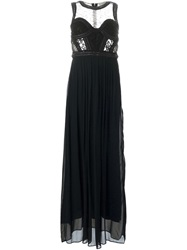 Amen Sleeveless Gown Dress Black