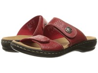 Clarks Leisa Lacole Red Leather Women's Sandals