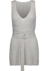 Autumn Cashmere Ribbed Tunic Light Gray