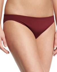 Carmen Marc Valvo Sporty Soul Classic Hipster Swim Bottom Purple