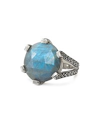 Stephen Dweck Etched Labradorite Ring Gray