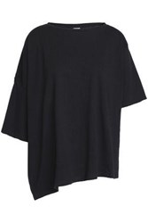 Oak Overszed Asymmetric Cotton Jersey T Shirt Black