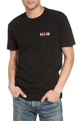 Kid Dangerous Men's All In Embroidered T Shirt Black
