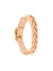 Il Bisonte Woven Bracelet Nude And Neutrals