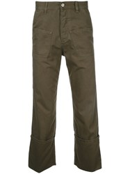 Loewe Patch Pocket Trousers Green