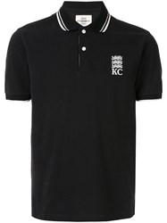 Kent And Curwen Logo Embroidered Polo Shirt Black
