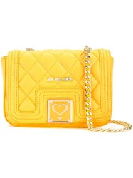 Love Moschino Quilted Crossbody Bag Yellow Orange