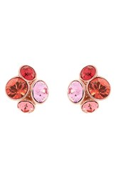 Women's Ted Baker London 'Lynda' Jewel Cluster Stud Earrings Coral