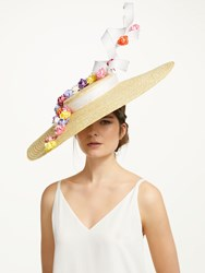 Bundle Maclaren Millinery Holly Flower Occasion Hat Natural Multi