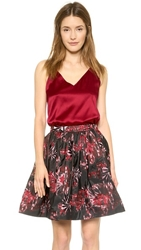 Alice Olivia Double Strap Y Back Tank Wine
