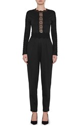 French Connection Women's Petra Lace Inset Jumpsuit