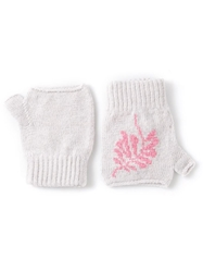 Barrie Knit Gloves Pink And Purple