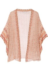 Mes Demoiselles Ipanema Printed Cotton Kimono Orange