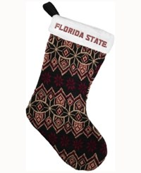 Forever Collectibles Florida State Seminoles Ugly Sweater Knit Team Stocking Maroon
