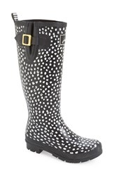 Women's Joules 'Welly' Print Rain Boot Black Spot
