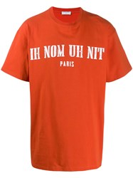 Ih Nom Uh Nit Oversized Logo Print T Shirt Red