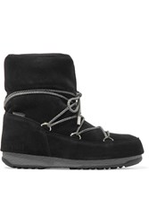 Moon Boot Suede Snow Boots Black