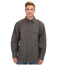 Carhartt Weathered Canvas Shirt Jacket Gravel Men's Coat Silver