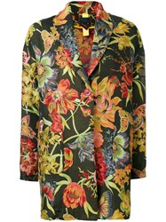 History Repeats Oversized Floral Blazer Black