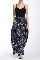 Michael Stars Printed Maxi Skirt Black