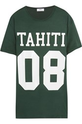 Mikoh Printed Cotton Jersey T Shirt Dark Green