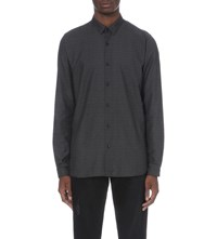 The Kooples Circle Print Fitted Shirt Black Grey