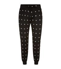 Mcq By Alexander Mcqueen Swallow Print Joggers Male Black