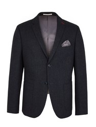 Racing Green Men's Hugh Semi Plain Blazer Navy