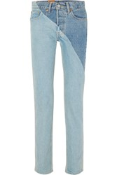 Vetements Levi's Mid Rise Straight Leg Jeans Mid Denim Gbp