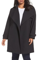 Michael Michael Kors Plus Size Women's Drape Front Trench Coat