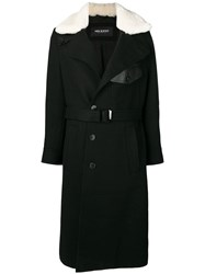 Neil Barrett Belted Coat Black