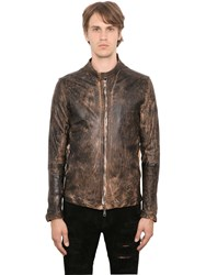Giorgio Brato Vintage Effect Washed Nappa Jacket