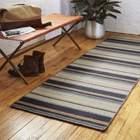Cb2 The Hill Side Workwear Blanket Stripe Runner 2.5'X8'