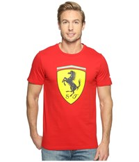 Puma Sf Big Shield Tee Rosso Corsa Men's T Shirt Red