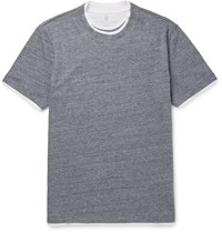 Brunello Cucinelli Double Layer Cotton Jersey T Shirt Gray